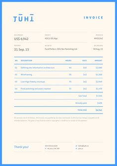 Creative Invoice Designs For Your Inspiration  Invoice Design