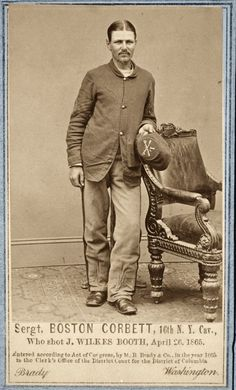 From evangelism to insanity, from instant celebrity to a hole in the ground, English-born Sergeant Boston Corbett became known post Civil War as 'Lincoln's Avenger' . American Union, American Civil War, American History, Abraham Lincoln, Cyberpunk, Lincoln Assassination, Historia Universal, Union Army, Civil War Photos