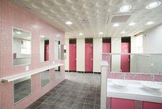 새롭게 바뀐 둔촌고 화장실 Bath Room, Bathroom Lighting, Toilet, Interior Design, Mirror, Frame, Kids, Furniture, Home Decor