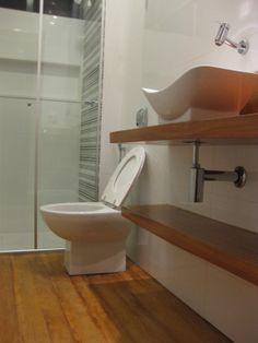 chao de madeira no banheiro, sera?