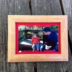 Personalized Father's Day Gift-Frame with Custim Matting: Wood 4x6, First Father's Day Gift, New Dad Gift, New Grandpa Gift, Grandfather on Etsy, $27.00