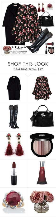 """""""floral"""" by metka-belina ❤ liked on Polyvore featuring Marni, HUGO, Hermès, Edward Bess, MAC Cosmetics, Palm Beach Jewelry and Nearly Natural"""