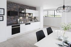 Kuchyňa ESTER vo vyhotovení biela arctic vysoký lesk Kitchen, Table, Furniture, Home Decor, Cooking, Decoration Home, Room Decor, Kitchens, Tables