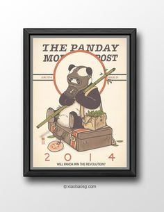 "PR026 - Panda Revolution XXVI  - Ready for Revolution  Inspired by Norman Rockwell's painting, ""ready for war"". *Frame not included*  Each print is signed on the back and only requested on the front.   Print will be shipped in a cardboard tube and registered mail in 5-10 business ..."