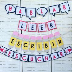 Spanish Verbs Banners Espanol Teacher by NoLandLikeGarland on Etsy