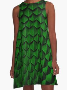 How To Train Your Dragon Barf And Belch Scales A-Line Dress