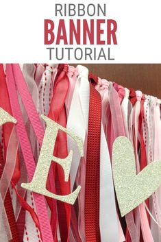Use up that ribbon stash to make a simple ribbon banner for your next celebration. Click here for the Ribbon Banner step-by-step Tutorial.#thecraftyblogstalker#ribbonbanner#ribboncrafts#diybanner Fun Diy Crafts, Crafts For Kids, Arts And Crafts, Paper Crafts, Ribbon Banner, Diy Ribbon, Craft Tutorials, Craft Projects, Diy Party