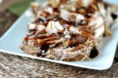 Sweet Balsamic Glazed Pork Loin {Slow Cooker} | Mel's Kitchen Cafe