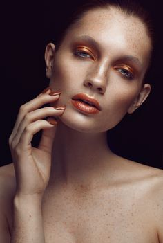 """Bronze Goddess"" for Press the Beauty Magazine SS14 by Ruo Bing Li, via Behance"
