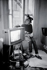 Basquiat, The artist in 1983 at his studio on Crosby Street.