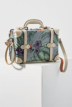 How fun is this cute SteamLine Luggage The Starlet Vanity Case from Anthropologie! Travel Bag Essentials, Trolley Case, Leather Duffle Bag, Unique Bags, Travel Accessories, Travel Style, Bag Making, Fashion Bags, Purses And Bags