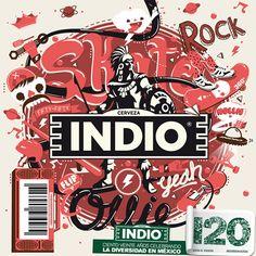 Etiqueta Indio por METZICAN, a través de Behance