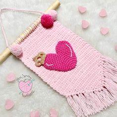 Crochet Wall Art, Crochet Wall Hangings, Tapestry Crochet, Crochet Garland, Crochet Decoration, Newborn Crochet, Crochet Baby, Crochet Furniture, Crochet Panda