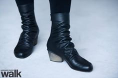 WINTER SALE 30 OFF Leather black boots / by WalkByAnatDahari