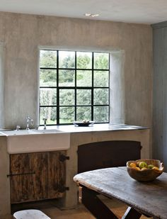 nice mix of materials in a belgian kitchen.