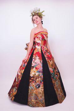 和ドレス・ウエディングドレスのドレスオーダー・レンタルドレスはアリアンサ|和ドレス・藍瑠