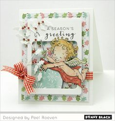 Card designs by Peet featuring Penny Black designer paper pads.