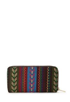 Worldly Tribal Patterned Wallet | FOREVER21 - 1000126510 $9.80