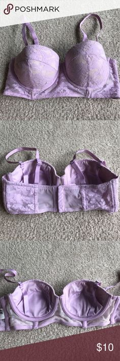 Lavender colored push up bra Adjustable/Detachable Straps. Great condition. Padding removable H&M Intimates & Sleepwear Bras