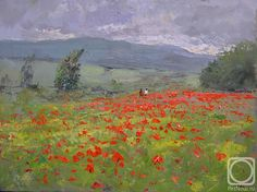 Poppy Field by Vitaly Makarov (b1971; Yssentuki, Caucasus, Russia)