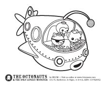 More Octonauts coloring pages.