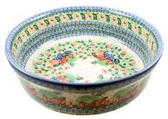 Polish Pottery Stoneware Salad Bowl Extra Large $199. US from Polart 12.5 x 4.25: