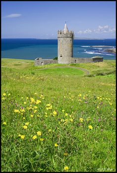 Doonagore Castle -County Clare, Ireland  1. on my list of places to go, County Clare is where my Papa's family is from.