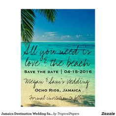 Jamaica Destination Wedding Save the Date