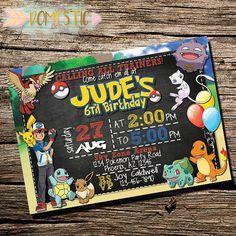 Pokemon Birthday Invitation Pokemon Invitation by Thedomesticmom