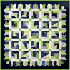 Shop | Category: Kit | Product: Seahawks Quilt Kit - Our own design using a pattern from the Scrap Crazy Playbook!!!