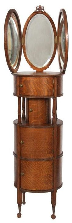 American Oak Shaving Stand - would make a cool jewelry box stand