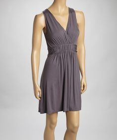 Loving this Gray Surplice Dress on #zulily! #zulilyfinds