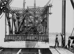 Construction Pont Jacques Cartier Juin 1928
