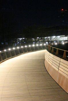 New fancy footbridge into Waterside Opera House, University, Stairs, Fancy, Gallery, Building, Travel, Stairway, Viajes