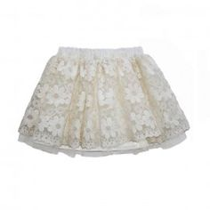 Fusta creata ivoire cu organza brodata Toddler Girl, Lace Skirt, Girl Outfits, Tulle, Velvet, Silk, Elegant, Skirts, Cotton