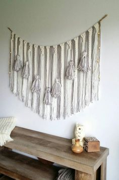 Yarn wall hanging/Large macrame wall by UpTheWallflower on Etsy