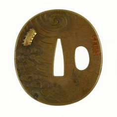 Tsuba with Dragon in Clouds. 19th century
