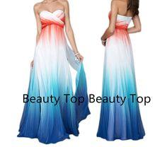 Chiffon Prom Dress Bridesmaid Dress Sweetheart Prom by BeautyTop, $169.00