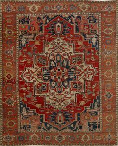 Matt Camron Rugs & Tapestries Antique Persian Serapi Rug