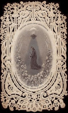 heart of Jesus mysterious shelter | Flickr - Photo Sharing! Lacey Holy Card.