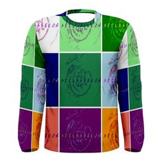 All appleartcom's products are from the original paintings of the artist/designer Jocelyn Apple. Kindly see: (www.facebook.com/appleartcom)    (www.cowcow.com/appleartcom). Appleartcom  Men's Long Sleeve Tee  by Jocelyn APple/Appleartcom. Tackle winter in style with this fully uniquely designed long sleeve t-shirt just for you!