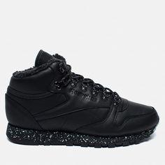 Зимние кроссовки Reebok Classic Leather Mid Sherpa II Perfect Split Black/Flat Grey