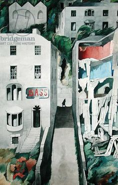 Ireland (1948) by Edward Burra. sometimes known as The Alley, Ireland.