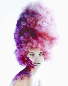This Vibrant Beauty Series was Done for Tush Magazine #hair trendhunter.com