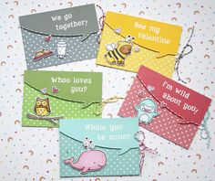 Lawn Fawn - Lawn Fawndamentals Notecards, Speech Bubble Border die, Critters in Costume, Critters in the Sea, Cozy Christmas, Critters in the Forest, Yeti Set Go, Riley's ABCs, Lawn Trimmings cord in Peppermint, Lemon, Cloudy _ adorable card set by Yainea for Lawn Fawn Design Team, via Flickr