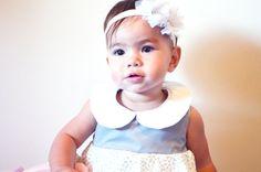 Girl designer bubble dress. Grey floral. by morningstardesigns2, $50.00