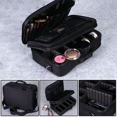 New Professional Cosmetic Bags Waterproof Makeup Storage Suitcase Jewelry Bags #Unbranded