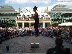 Covent Garden - London - food, clothing, buskers - fun.