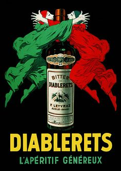 Vintage Diablerets Drink Posters & Prints
