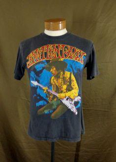 vintage California rock Jimi Hendrix t shirt guitar tank top NY Miami